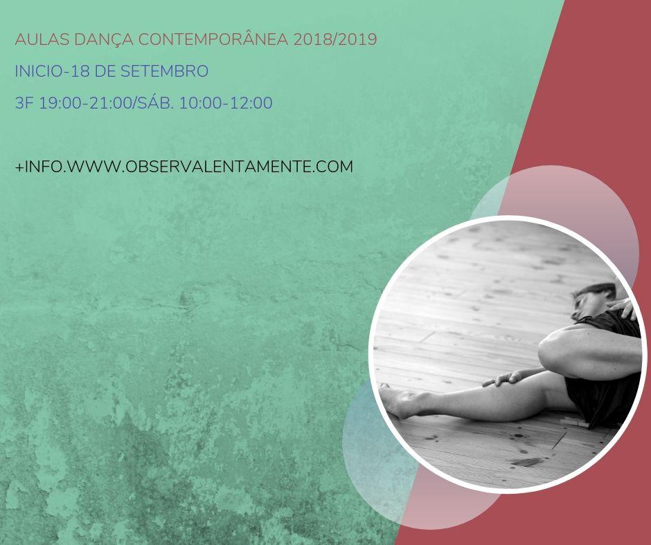 Aulas Dança Contemporânea 2018/2019